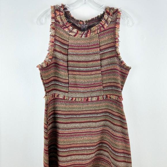 She + Sky Dresses & Skirts - She + Sky Woven Sheath Dress Autumn Colors Large L